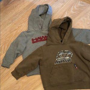 2 toddler boys pullover hoodie sweatshirts